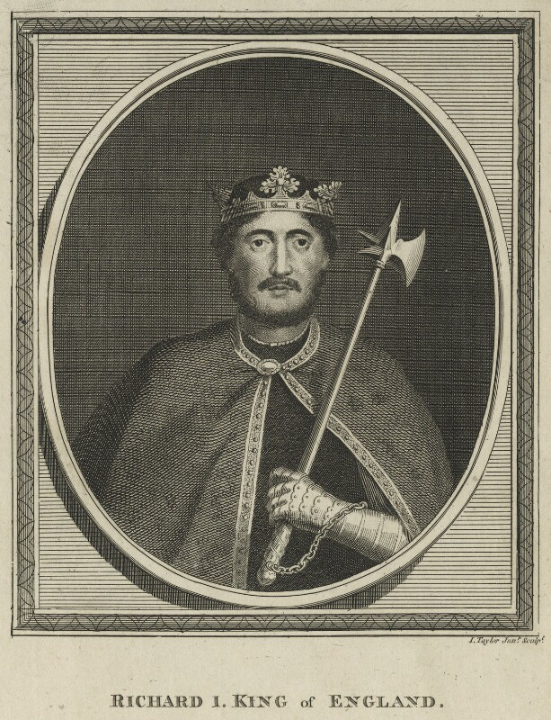 King Richard I ('the Lionheart'), by Isaac Taylor, late 18th century - NPG D23641 - © National Portrait Gallery, London