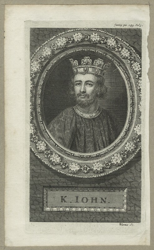 King John, by George Vertue, probably 18th century - NPG D23646 - © National Portrait Gallery, London