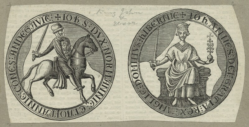 The Seal of King John from the Magna Carta, after Unknown artist, 18th century - NPG D23650 - © National Portrait Gallery, London