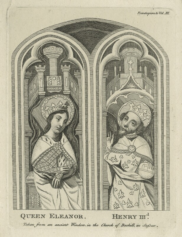 Queen Eleanor and King Henry III, after Unknown artist, perhaps 18th century - NPG D23653 - © National Portrait Gallery, London