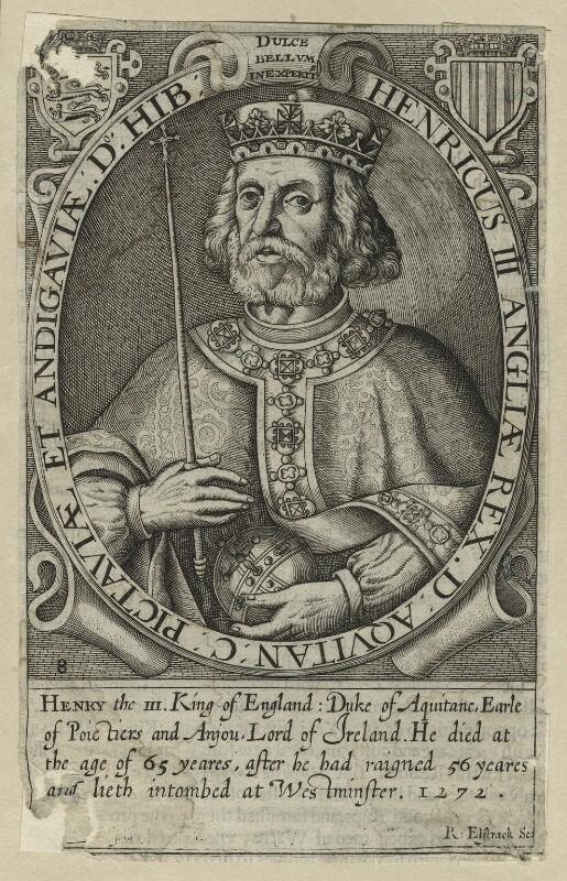 King Henry III, by Renold or Reginold Elstrack (Elstracke), published 1638 or 1662 (Engraved 1618) - NPG D23658 - © National Portrait Gallery, London