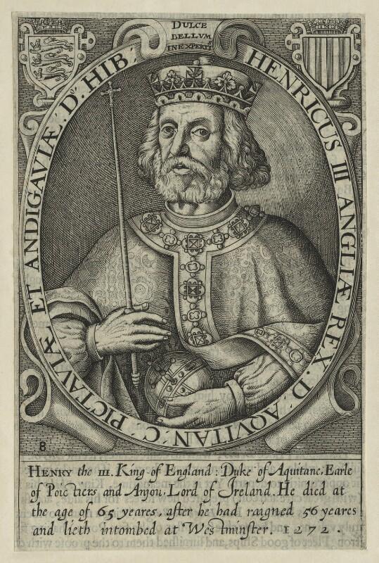 King Henry III, by Renold or Reginold Elstrack (Elstracke), published 1638 or 1662 (Engraved 1618) - NPG D23664 - © National Portrait Gallery, London
