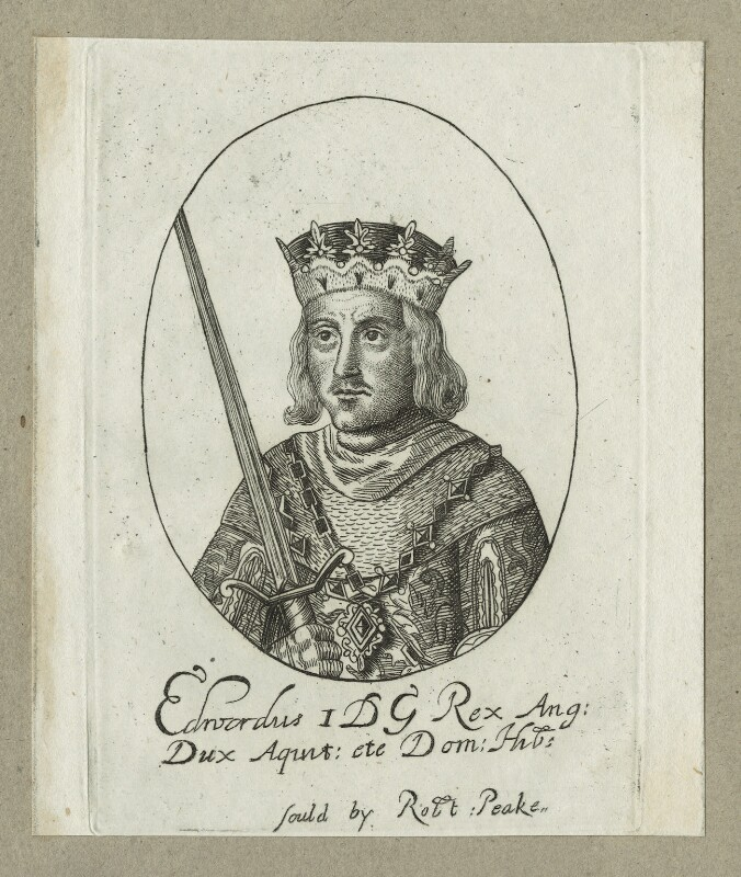 King Edward I ('Longshanks'), possibly by William Faithorne, probably 17th century - NPG D23674 - © National Portrait Gallery, London
