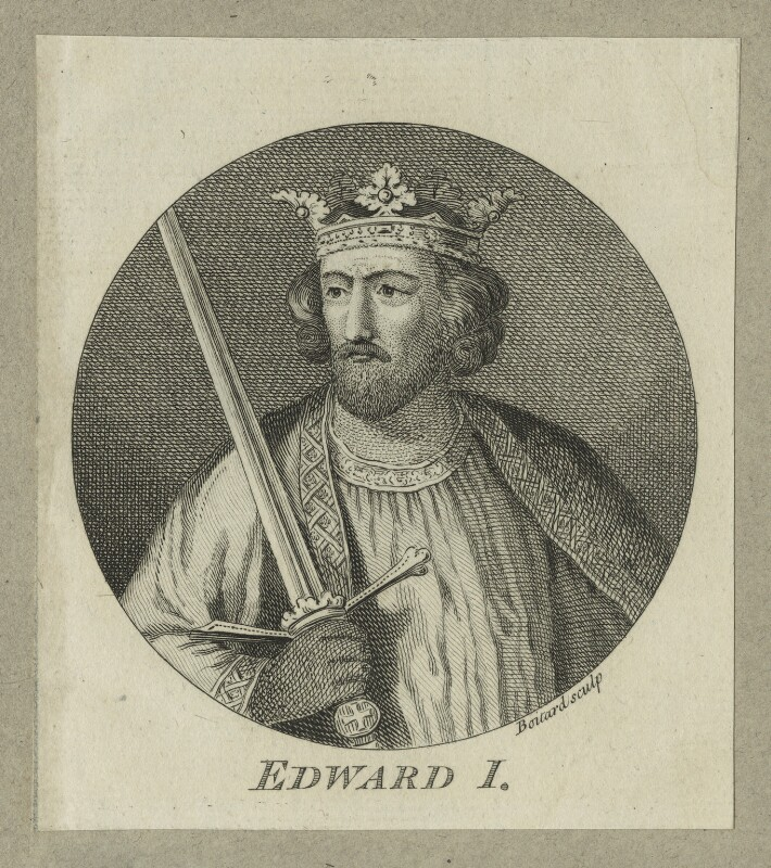King Edward I ('Longshanks'), by Louis Philippe Boitard, mid 18th century - NPG D23677 - © National Portrait Gallery, London