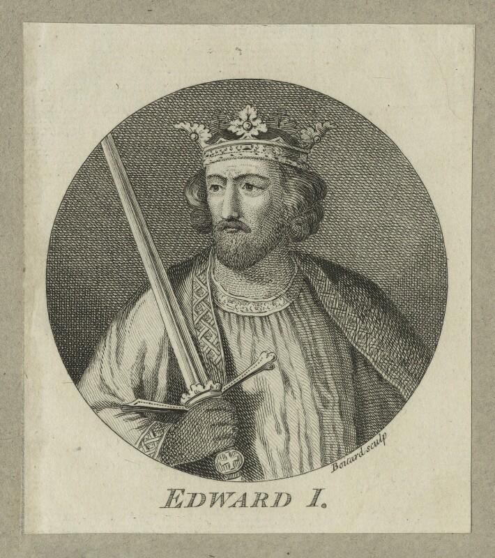 King Edward I ('Longshanks'), by Louis Philippe Boitard, mid 18th century - NPG D23677 - © National Portrait Gallery, London
