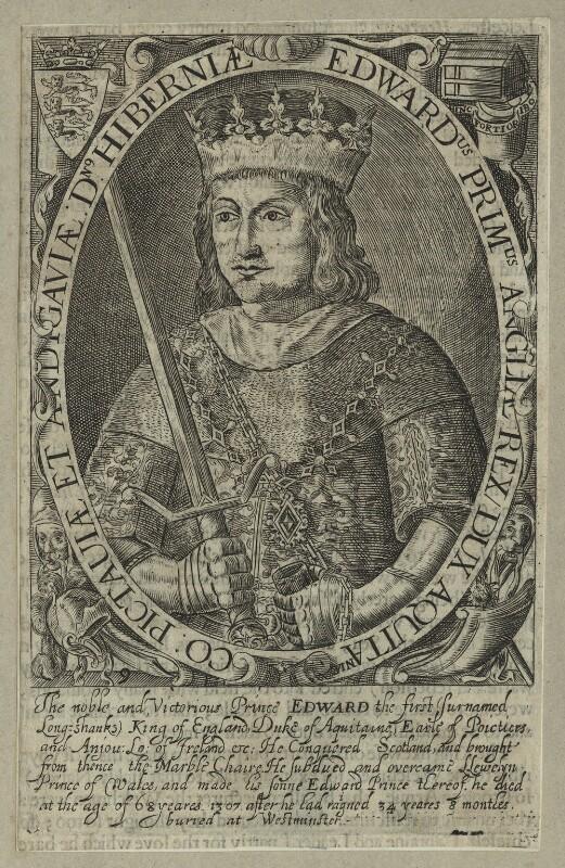 King Edward I ('Longshanks'), by Renold or Reginold Elstrack (Elstracke), mid 17th century - NPG D23678 - © National Portrait Gallery, London