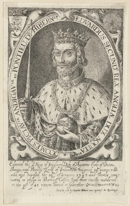 King Edward II, by Renold or Reginold Elstrack (Elstracke), 1628 - NPG D23686 - © National Portrait Gallery, London