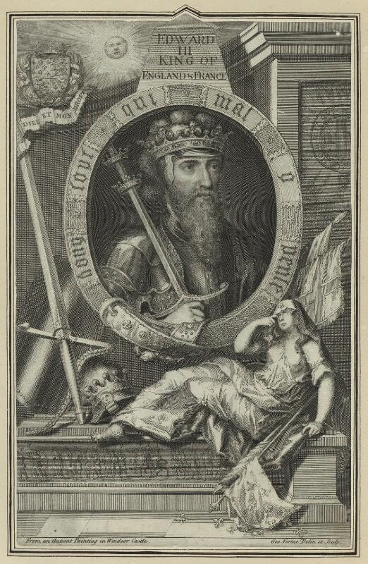 King Edward III, by George Vertue, 1732 - NPG D23695 - © National Portrait Gallery, London