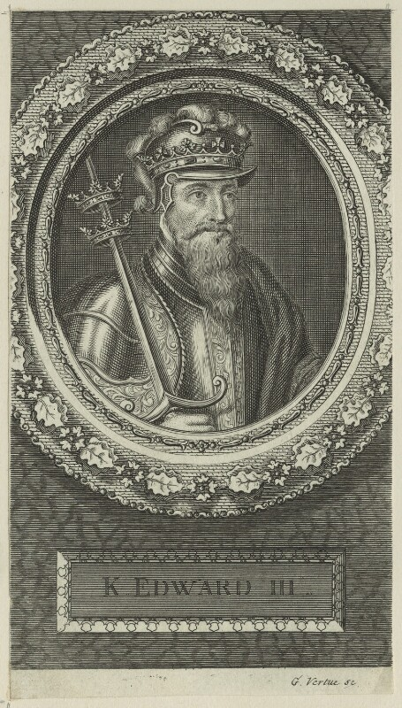King Edward III, by George Vertue, 1745 - NPG D23699 - © National Portrait Gallery, London