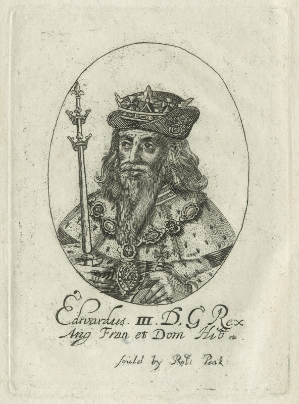 King Edward III, possibly by William Faithorne, probably 17th century - NPG D23700 - © National Portrait Gallery, London