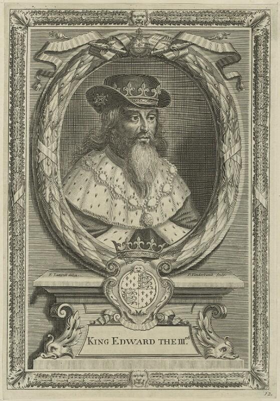King Edward III, by Peter Vanderbank (Vandrebanc), after  Edward Lutterell (Luttrell), 1706 - NPG D23701 - © National Portrait Gallery, London