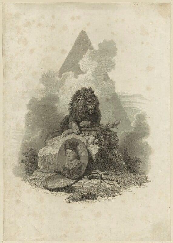 Edward, Prince of Wales ('the Black Prince'), by J. Landster, after  Robert Smirke, after  Richard Rhodes, published 1797 - NPG D23708 - © National Portrait Gallery, London