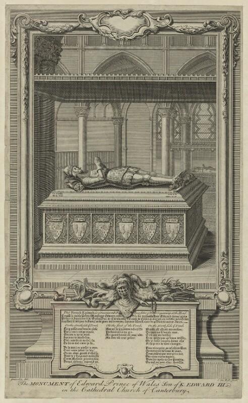 Edward, Prince of Wales ('the Black Prince'), by Claude du Bosc, after  Hubert-François Gravelot (né Bourguignon), probably 18th century - NPG D23709 - © National Portrait Gallery, London