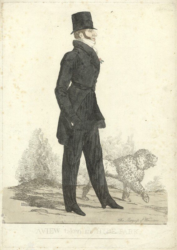 'A view taken in Hyde Park' (Henry Somerset, 7th Duke of Beaufort), by and published by Richard Dighton, published 1817 - NPG D31578 - © National Portrait Gallery, London