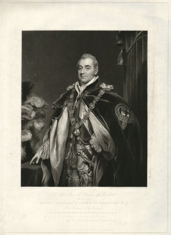 Henry Charles Somerset, 6th Duke of Beaufort, by Charles Turner, after  Thomas Phillips, published 1828 - NPG D31581 - © National Portrait Gallery, London