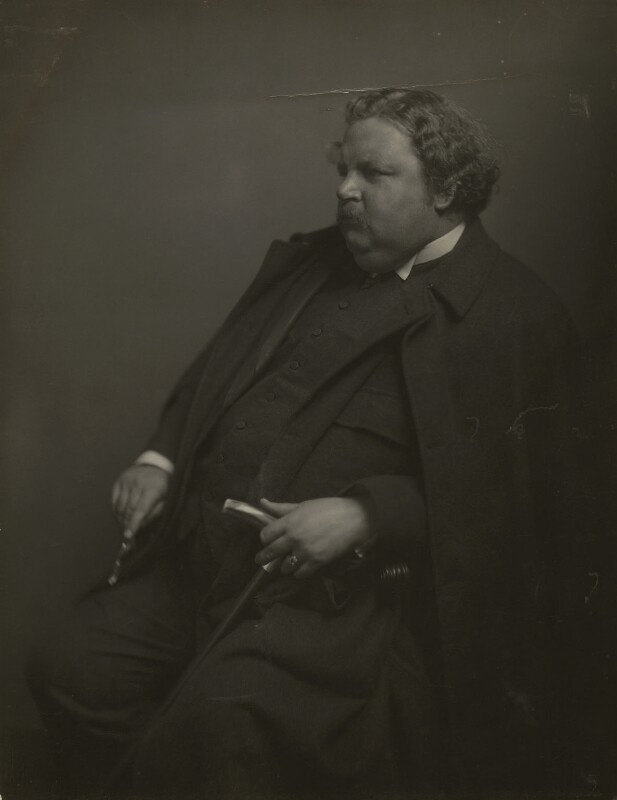 G.K. Chesterton, by James Craig Annan, 1912 - NPG x6021 - © National Portrait Gallery, London