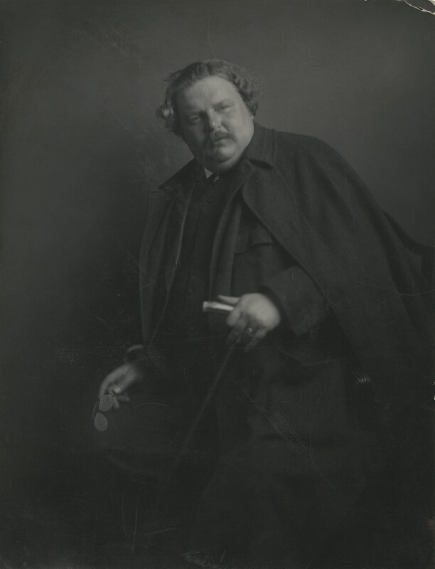 G.K. Chesterton, by James Craig Annan, 1912 - NPG x6022 - © National Portrait Gallery, London