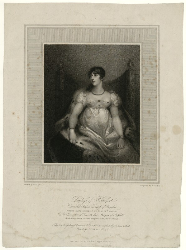 Charlotte Sophia (née Leveson-Gower), Duchess of Beaufort, by Anthony Cardon, after  Anne Mee (née Foldsone), published 1812 - NPG D31583 - © National Portrait Gallery, London
