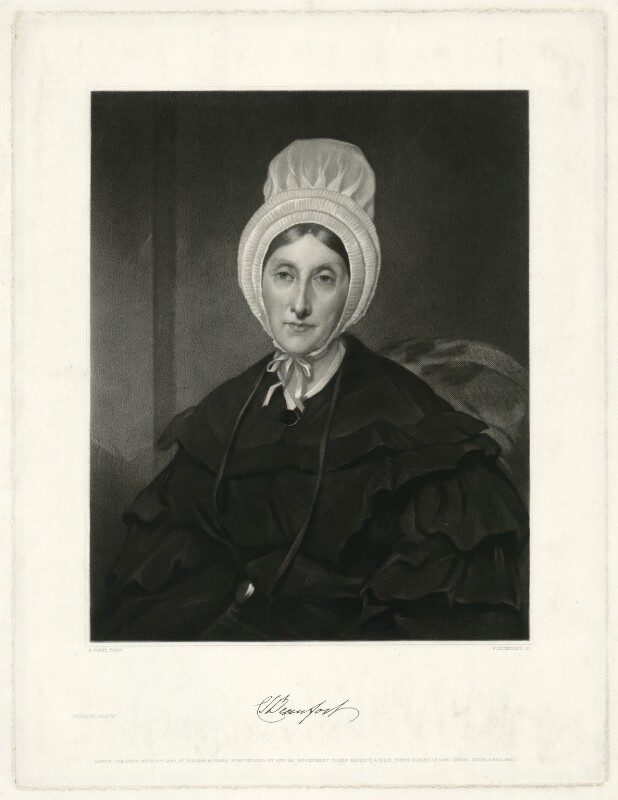 Charlotte Sophia (née Leveson-Gower), Duchess of Beaufort, by William Humphrys, after  Sir Francis Grant, published 1840 (1839) - NPG D31584 - © National Portrait Gallery, London