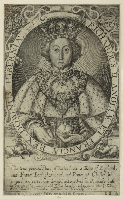 King Richard II, by Renold or Reginold Elstrack (Elstracke), 1618 - NPG D23715 - © National Portrait Gallery, London