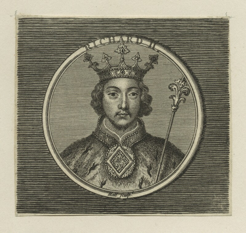 King Richard II, by Hall, probably 18th century - NPG D23720 - © National Portrait Gallery, London