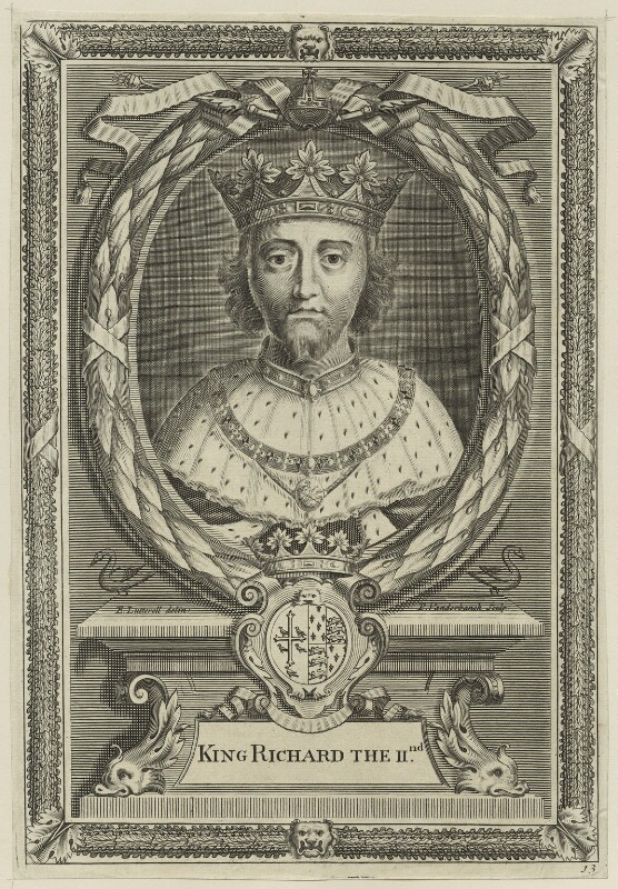 King Richard II, by Peter Vanderbank (Vandrebanc), after  Edward Lutterell (Luttrell), 1706 - NPG D23719 - © National Portrait Gallery, London