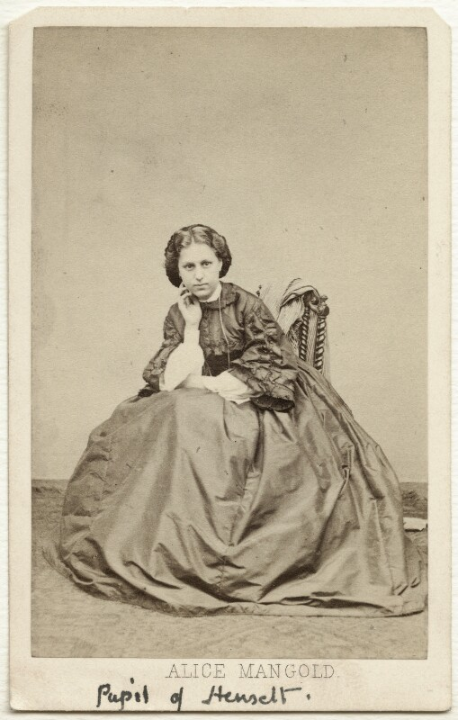 Alice Mangold Diehl, by Cundall, Downes & Co, 1861 - NPG Ax38154 - © National Portrait Gallery, London