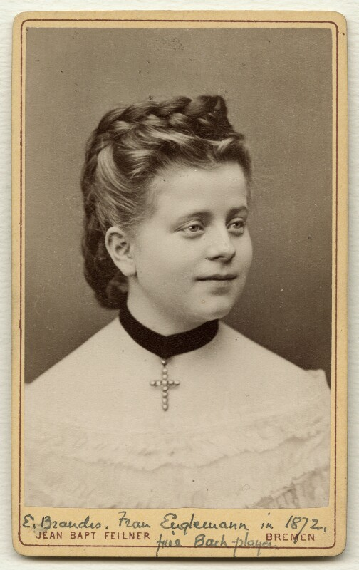Emma Brandes (Mrs Engelmann), by Jean Baptiste Feilner, 1872 - NPG Ax38156 - © National Portrait Gallery, London
