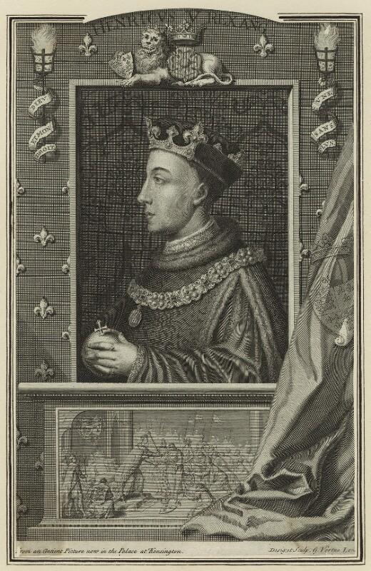 King Henry V, by George Vertue, 1732 - NPG D23737 - © National Portrait Gallery, London