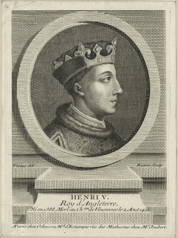 King Henry V, by Pierre François Basan, mid 18th century - NPG D23738 - © National Portrait Gallery, London