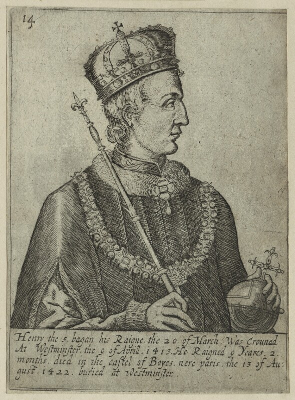 King Henry V, after Unknown artist, early 17th century - NPG D23747 - © National Portrait Gallery, London