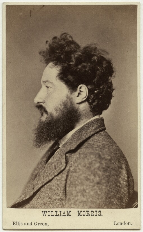 William Morris, by John Robert Parsons, published by  Ellis & Green, 1871-1872 (14 June 1870) - NPG Ax38170 - © National Portrait Gallery, London