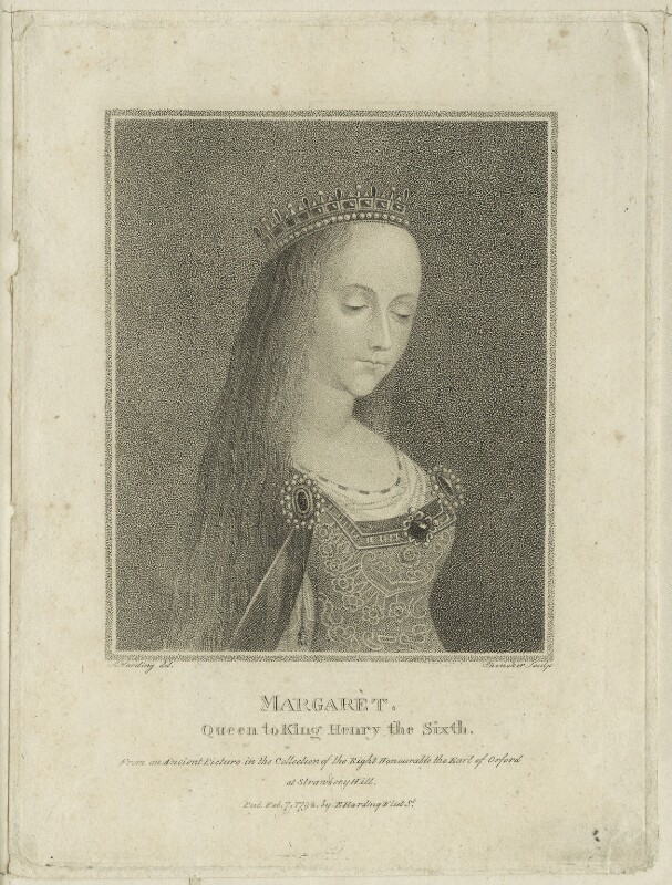 Queen Margaret of Anjou, by Schenecker, published by  Edward Harding, after  Silvester Harding, published 1792 - NPG D23777 - © National Portrait Gallery, London