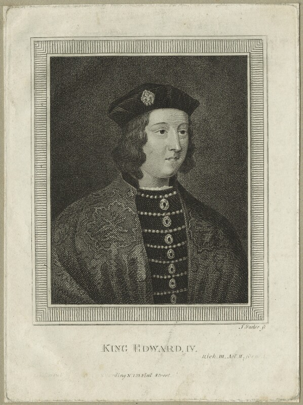 King Edward IV, by James Parker, published 1790 - NPG D23784 - © National Portrait Gallery, London