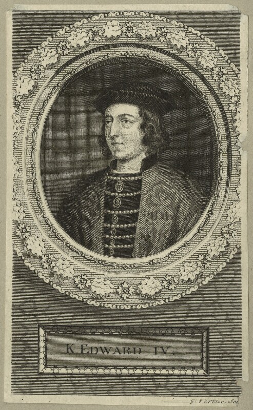 King Edward IV, by George Vertue, 1745 - NPG D23786 - © National Portrait Gallery, London