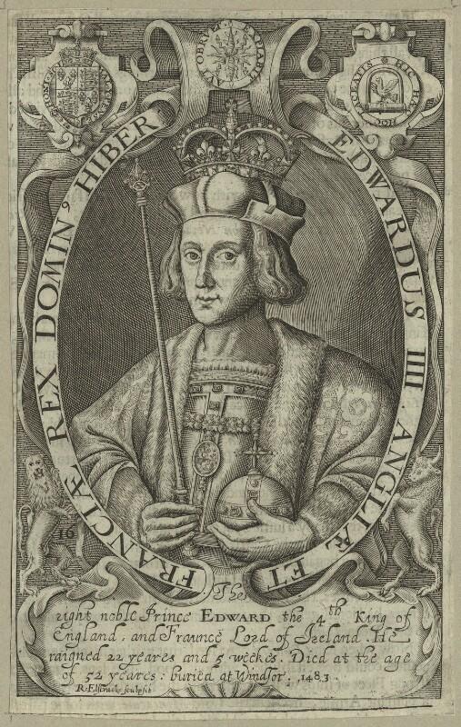 King Edward IV, by Renold or Reginold Elstrack (Elstracke), 1618 - NPG D23788 - © National Portrait Gallery, London