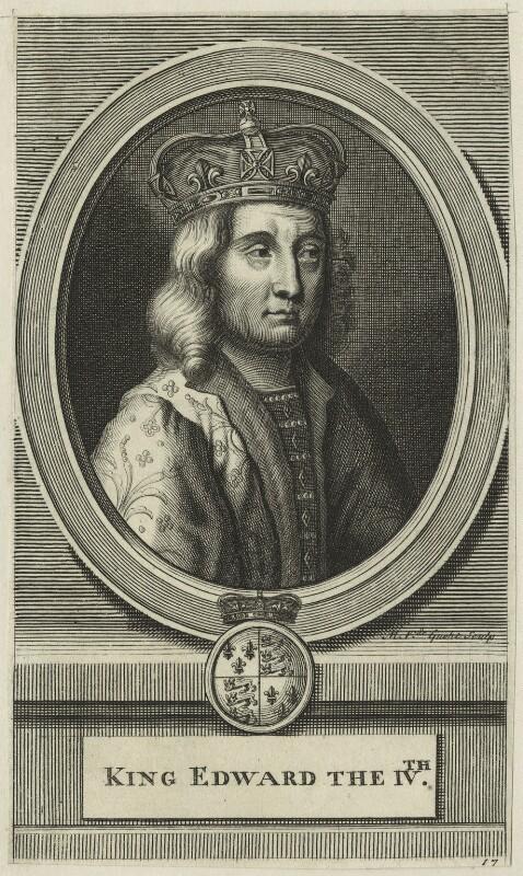 King Edward IV, by Michael Vandergucht, early 18th century - NPG D23792 - © National Portrait Gallery, London