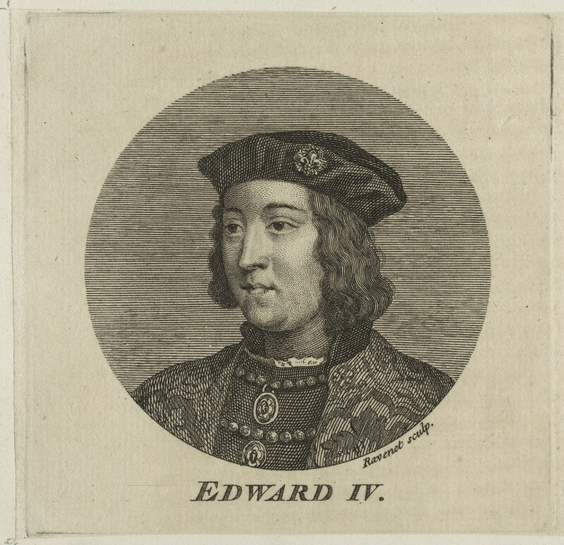 King Edward IV, by Simon François Ravenet, probably 18th century - NPG D23794 - © National Portrait Gallery, London