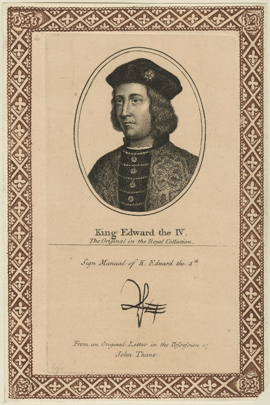 King Edward IV, after Unknown artist, perhaps 18th century - NPG D23797 - © National Portrait Gallery, London