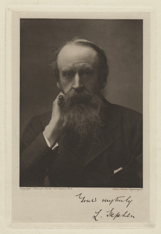 Sir Leslie Stephen, by John Caswall Smith, published by  Swan Electric Engraving Co., 1890s - NPG x35979 - © National Portrait Gallery, London