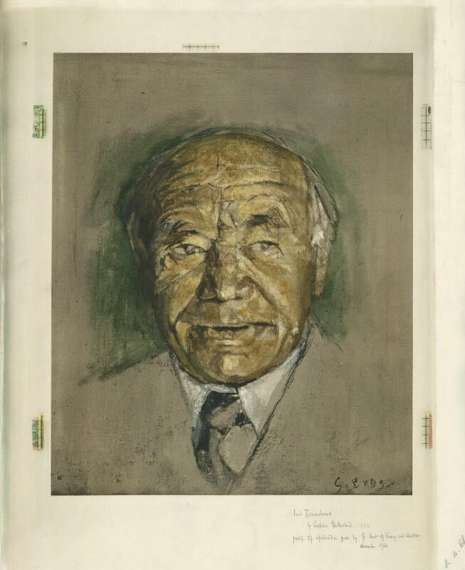 William Maxwell Aitken, 1st Baron Beaverbrook, after Graham Vivian Sutherland, (1952) - NPG D31601 - © National Portrait Gallery, London