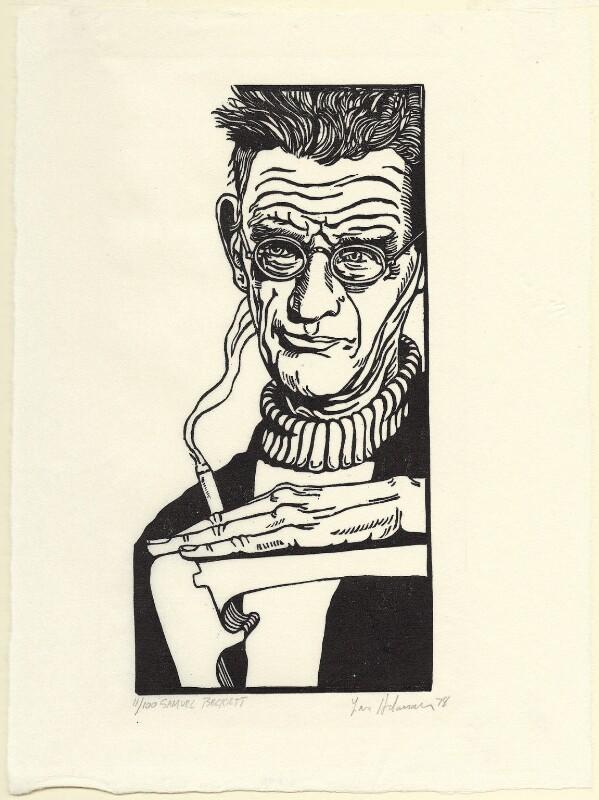 Samuel Beckett, by Lars Hokanson, 1978 - NPG D31605 - © National Portrait Gallery, London