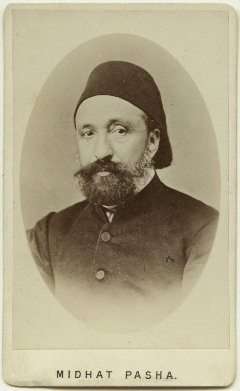 Midhat Pasha, by Alexander James Grossmann, 1860s - NPG x74331 - © National Portrait Gallery, London