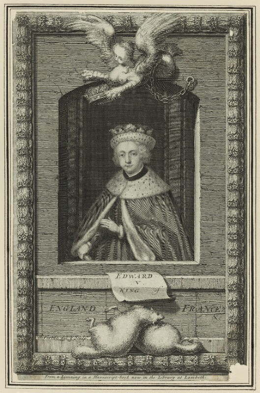 King Edward V, by George Vertue, 1732 - NPG D23808 - © National Portrait Gallery, London