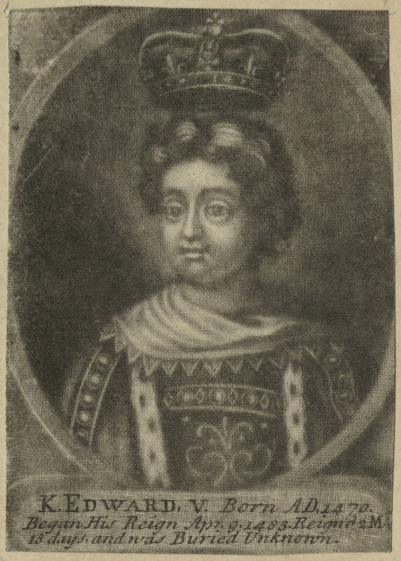 King Edward V, after Unknown artist, probably 18th century - NPG D23811 - © National Portrait Gallery, London