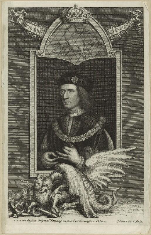 King Richard III, by George Vertue, 1732 - NPG D23812 - © National Portrait Gallery, London
