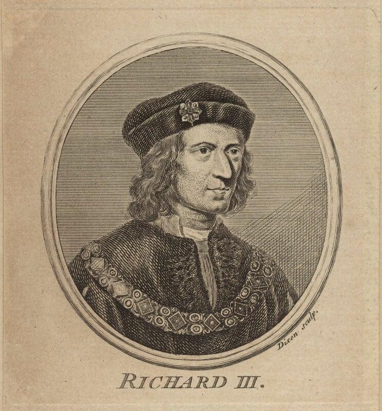 King Richard III, probably by John Dixon, 1757 - NPG D23813 - © National Portrait Gallery, London