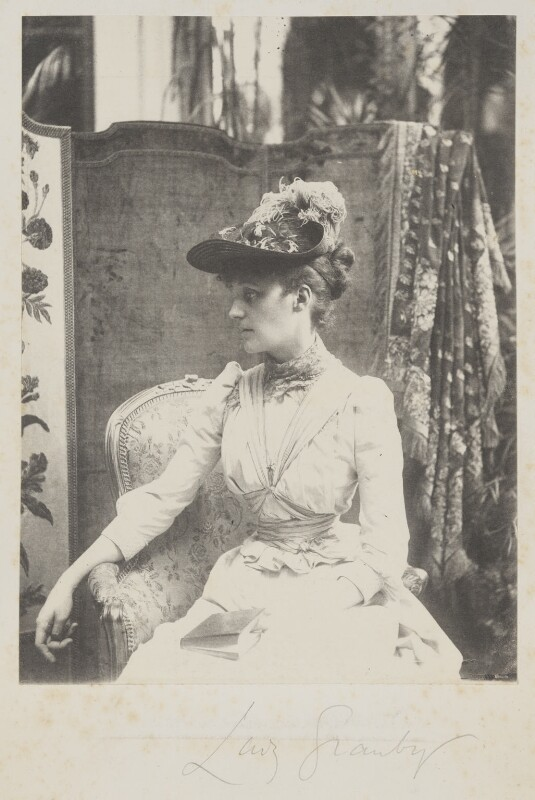 (Marion Margaret) Violet Manners (née Lindsay), Duchess of Rutland when Lady Granby, by Cyril Flower, 1st Baron Battersea, 1890s - NPG Ax15679 - © National Portrait Gallery, London