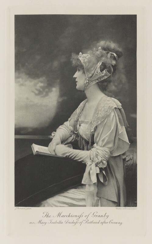 Violet Manners, Duchess of Rutland as Mary Isabella, Duchess of Rutland after Cosway, by John Thomson, photogravure by  Walker & Boutall, 1897; published 1899 - NPG Ax41217 - © National Portrait Gallery, London