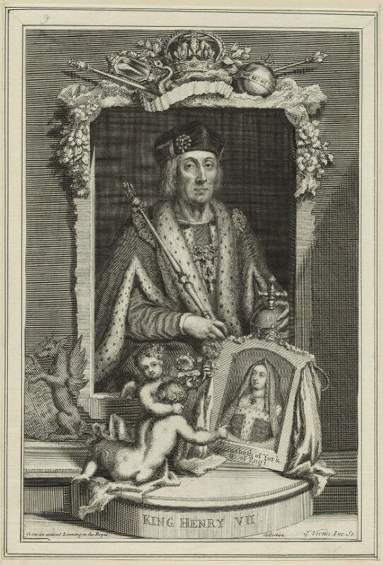King Henry VII and Elizabeth of York, by George Vertue, 1732 - NPG D23831 - © National Portrait Gallery, London